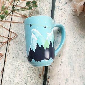 Flawed Davids Tea mug Nordic mountains ski chalet